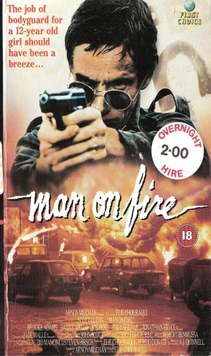 Man on Fire Vhs cover