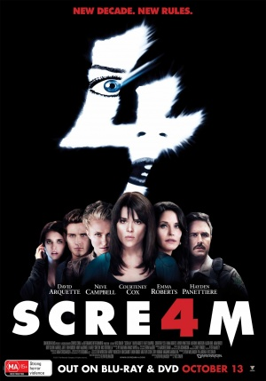 Scream 4 Video release poster