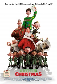 Arthur Christmas in 3D poster