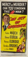 An Act of Murder Poster