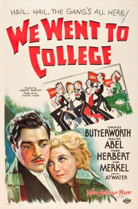 We Went to College poster