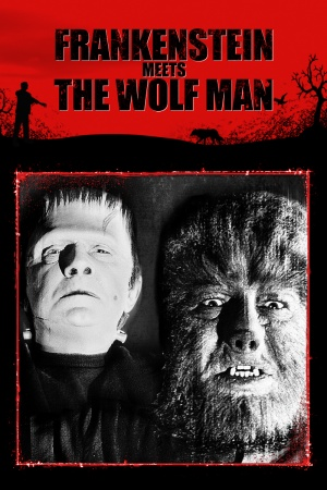 Frankenstein Meets the Wolf Man Vhs cover