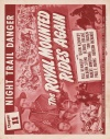 The Royal Mounted Rides Again Poster