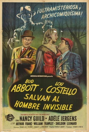 Bud Abbott Lou Costello Meet the Invisible Man 580x859