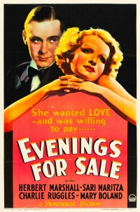 Evenings for Sale poster