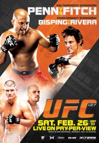 UFC 127: Penn vs. Fitch poster