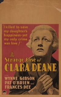 The Strange Case of Clara Deane poster