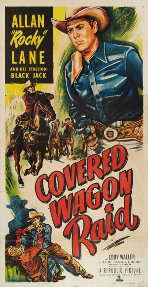 Covered Wagon Raid Poster