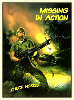 Czech dvd cover for Missing in Action