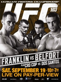 UFC 103: Franklin vs. Belfort poster