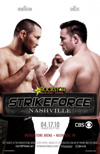 CBS Strikeforce Saturday Night Fights poster