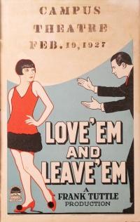 Love 'Em and Leave 'Em poster