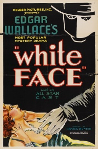 Edgar Wallace's White Face the Fiend poster