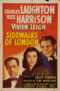 Sidewalks of London poster