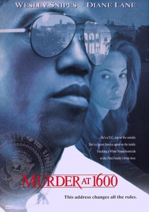 US dvd cover for Murder At 1600