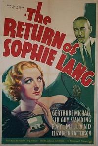 The Return of Sophie Lang poster