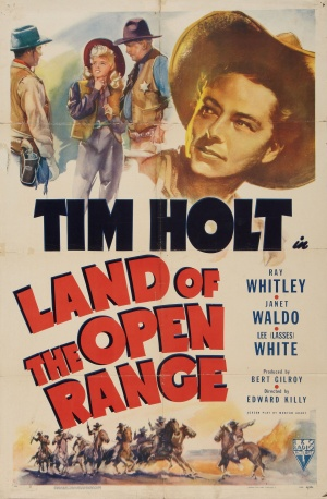 Land of the Open Range Poster