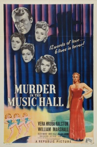 Murder in the Music Hall poster