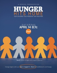 Hunger Hits Home poster