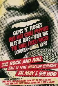 The 2012 Rock and Roll Hall of Fame Induction Ceremony poster