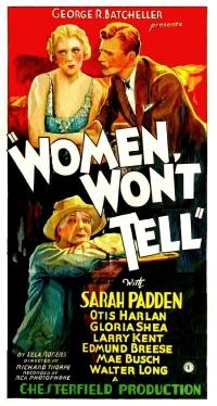 Women Won't Tell poster