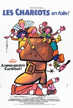 Les Charlots en folie: À nous quatre Cardinal! 2432x3595