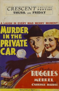 Murder in the Private Car poster