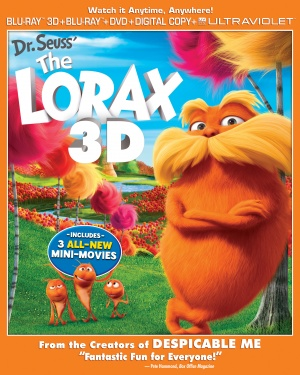 The Lorax Blu-ray cover