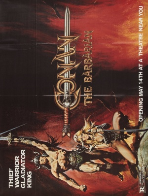 Conan The Barbarian Advance poster