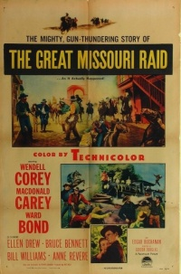 The Great Missouri Raid poster
