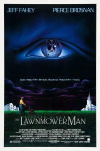 Stephen King's The Lawnmower Man poster
