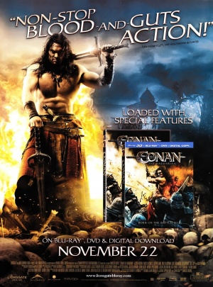 Conan the Barbarian Video release poster