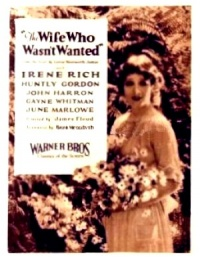 The Wife Who Wasn't Wanted poster