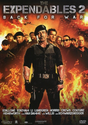The Expendables 2 Dvd cover