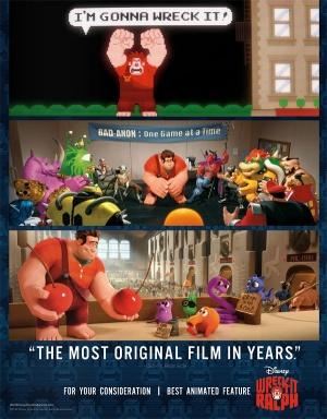 Wreck-It Ralph For your consideration poster