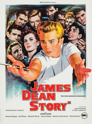The James Dean Story Re-release poster
