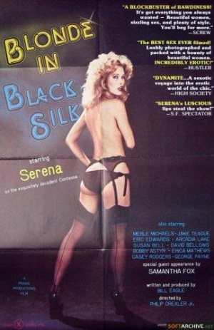 Blonde in Black Silk Poster