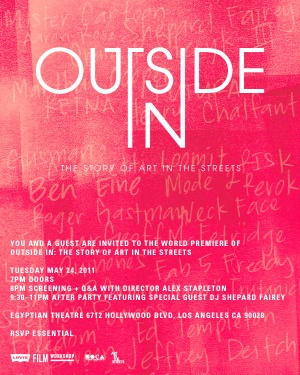 Outside In: The Story of Art in the Streets Poster