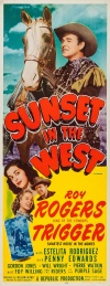 Sunset in the West Poster