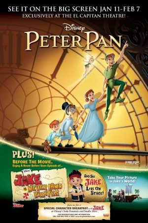 Peter Pan Re-release poster