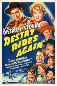 Destry Rides Again poster