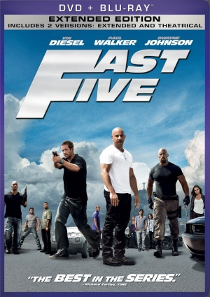 Fast Five Blu-ray cover