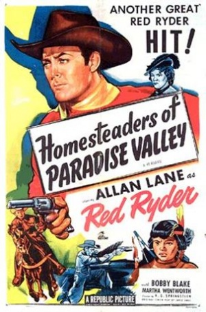 Homesteaders of Paradise Valley Re-release poster