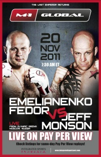 M-1 Global: Fedor vs. Monson poster