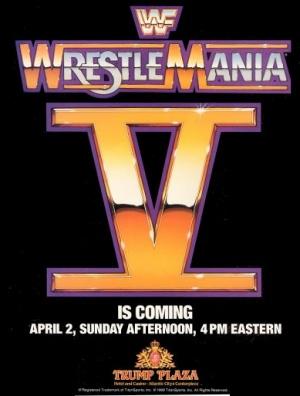 WrestleMania V 389x513