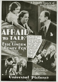 Afraid to Talk poster