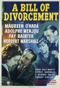 A Bill of Divorcement poster