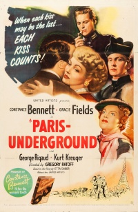 Paris Underground poster