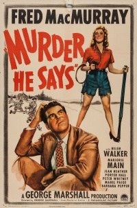 Murder, He Says poster