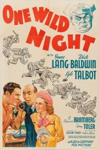 One Wild Night poster
